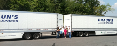 Braun's Express team with aerodynamic TrailerTail technology